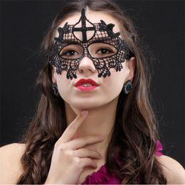 Wholesale Batman Adult Costume Accessories - DHL Free halloween carnival adult sex masquerade hen night party batman mask animal black fashion face female venetian mask lace eye mask