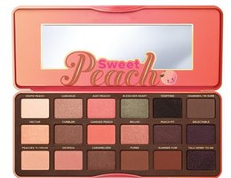 Wholesale Makeup Gift Sets Wholesale - HOT! NEW Sweet Peach 18 color Eye Shadow Makeup Eyeshadow Palette +GIFT dhl free shipping