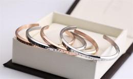 Wholesale 14k Rose Gold Filled - 2017 New Fashion Bracelet Cuff Rose Gold Silver Bangle 100% 316L stainless steel DW Bracelets Women Men Brand Bracelet pulsera with Gift Box