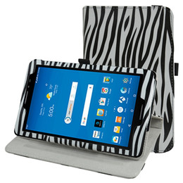 """Wholesale Leopard Tablet Cover - Wholesale- 360 Degree Rotary Rotating Leather Cute Case Cover For 8""""AT&T Trek 2 HD 6461A 4G LTE Android Tablet 2016"""