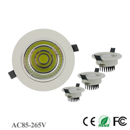 Wholesale Downlight House - White House LED Downlight 3W 5W 7W 10W 12W 15W 18W No Dimmable AC 85-265V Spot Recessed LED Downlight for Outdoor Wall