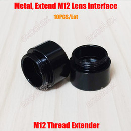 Wholesale Video Camera Interface - Wholesale- 10PCS Lot M12 Mount Thread Extension Adapter Extender for MTV Interface CCTV Lens and Video Security Camera