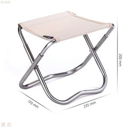 Wholesale Smallest Portable Stool - Wholesale- High-quality folding chair portable pony stool leisure small board stool painting and laundry fishing outdoor stool beach chair