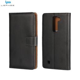 Wholesale Optimus Cover - For LG Leon X Power K4 K7 K8 Optimus L5 II Genuine Flip Leather Case Wallet Credit Card Holder Stand Magnetic Cover Shockproof