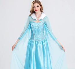 Wholesale Ladies Snow Suits - 2017 New Halloween ladies ice and snow odd love Aisha cosplay clothing make-up ball Aisha Princess skirt performance suit