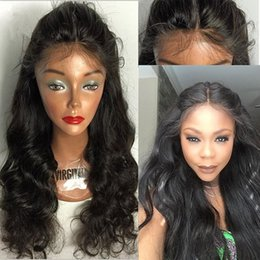Wholesale Lace Front Hair 4x4 - 4x4'' Silk Top Full Lace Wig With Baby Hair Virgin Brazilian Body Wave Silk Base Lace Front Human Hair Wigs For Black Women