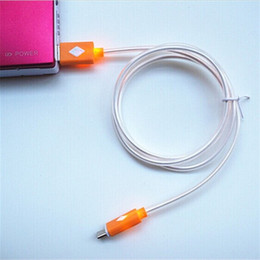 cargador de cable de datos Rebajas cable luminoso Micro USB V8 cable de cargador visible LED de luz de color Datos 1M cable de carga de cinta de fideos Streamer para teléfono Andriod ap 5 teléfono