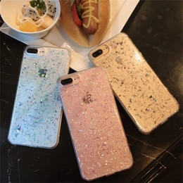Wholesale Korea Phones - Korea Style Bling Glitter TPU Case For TPU Sequins Soft Back Cover Korea Style Shockproof Protector Phone Shell Skin