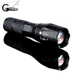 Wholesale Zoomable Focus Flashlight - G700 X800 Led Tactical Flashlight Lanterna Self defense 5000Lumen Zoomable XML T6 LED 18650 Flashlight Focus Torch Lamp Light