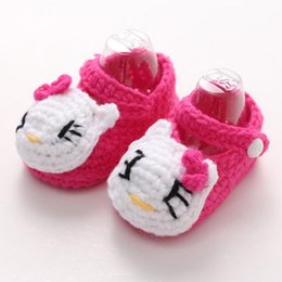 Wholesale Frog Shoes - Wholesale- New girls boys Animal crochet baby shoes Rabbit infant girls boots Frog Cartoon bowknot shoes Soft Yarn