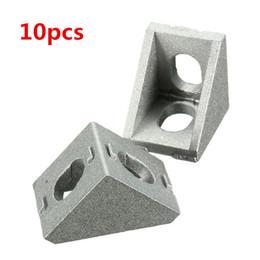 Staffe d'angolo del mobile online-Raccordi per mobili ad angolo retto in alluminio angolo 20x20mm per contrangolo angolo 10 pezzi