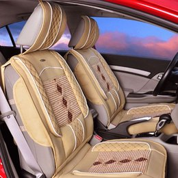 Wholesale Leather Car Seat Cushion Covers - High material universal four seasons car seat cover leather material car cushion beautiful for automotive interiors