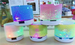 Wholesale Hifi Music Speaker - Wireles LED Mini portable S10 A9 crackle texture Bluetooth Speakers Support TF Card U disk for mobile phone Music player with retail box