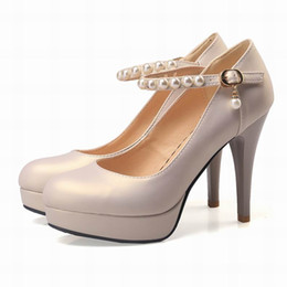 Wholesale Womens Designer Pumps - Womens Platform High Heel Shoes for Ladies Summer Style Black White Stiletto Heel Shoes Round Toes Designer Girls Dress Shoes for 7039
