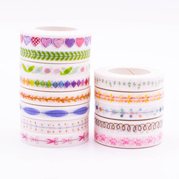 Wholesale Color Masking Tape - Wholesale- 2016 All Different Color Japanese Slim Washi Tape Decorative Adhesive Tape Set Masking Paper Tapes 1PCS lot