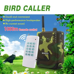 Wholesale Decoy Ducks - Wholesale- 150Db 1000M Remote control Hunting Speakers USB MP3 Bird Caller Duck Decoy Animal Bird Sound Calls Hunting TF USB Mp3 NEWGOOD