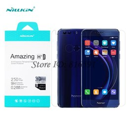 Wholesale Nillkin Screen Protector - Wholesale-Huawei Honor 8 Tempered Glass Nillkin Amazing H+Pro Anti-Explosion Front   Back Screen Protector For Huawei Honor 8 5.2 inch