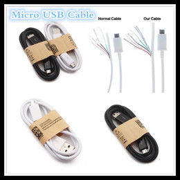 Wholesale Sale S4 - Factory Sales 1M 3ft Micro USB Datum Cable Charging Charger Wire Cables For Galaxy S4 S5 Note 4 5 LG HTC