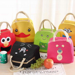 Wholesale Cute Tote Bags For Kids - Hot Sale Portable Cartoon Cute Lunch Bag Insulated Cold Picnic Totes Carry Case For Kids Women Thermal Isothermic Bags Bento Box 6 Color