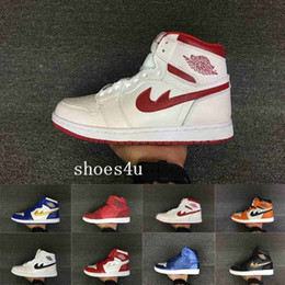 Wholesale Silk Black Cheap Lace Top - Cheap 2017 Air jumpmen Retro 1 Shattered Backboard Chicago Banned Mid Hare Man And Woman High Top Basketball Shoes Size 5.5-13 Free Shipping
