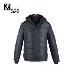 Wholesale Vinyl Stands - BLACK VINYL 2017 70% White Duck Down Thickening Winter Jacket Men Fashion