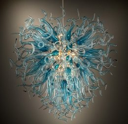 Wholesale Circle Chandelier Light - Personal Circle Crystal Chandeliers Cheap 110v 120v 220v 240v Vintage Office Home Lighting Blown Glass Style