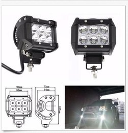 Wholesale Led Head Lights Atv - 18W 6LED*(3W) CREE LED Working Light Bar Offroad SUV ATV Flood Beam 1600lm IP67 JEEP Motorcycle Head Lamps