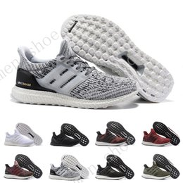 Wholesale Burgundy Canvas Shoes - (With Box) Ultra Boost 3.0 CNY Core Triple Black White Royal Blue Burgundy Shoes Running shoes for men sports sneakers women ultraboost 5-11