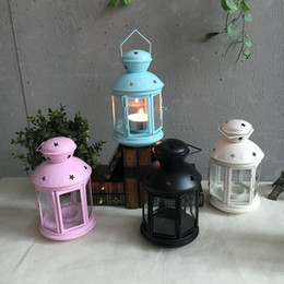 Wholesale Wholesale Glass Candleholder - 2017 New hot sale iron Candleholder in 4 colors perfect gift and home garden decoration free shipping