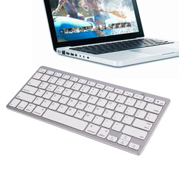 Wholesale keyboards for iphone - 2018 Ultra Slim Wireless Keyboard Bluetooth 3.0 for ipad Iphone Macbook PC Computer Android Tablet
