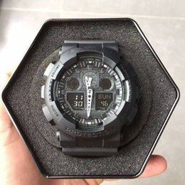 Wholesale mans time style - 2018 New Hot Style Quartz Digital Gold Watch Men Dual Time Man Sports Watches Men Luxury G Style Shock Military Army Wristwatch Reloj Hombre