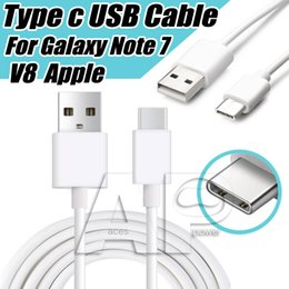 Wholesale 5x Usb Cable - USB Type-C Cable USB C Samsung Cable Data Sync Charge Type C Cable Tablet Note8 For V8 S8 LG Nexus 5X 6P Oneplus