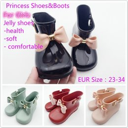 Wholesale Boys Water Shoes - 1 Pair Melissa Children Bow Butterfly Shoes Girls Jelly Non-Slip Water Boots Princess Fragrant Shoes Baby Water Boots Shoes