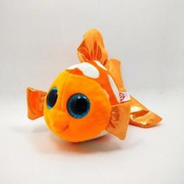 "Wholesale Clown Stuffed Toy - Wholesale-1pcs 6"" 15 cm Free Shipping Movie Cute Clown Fish Stuffed Animal Plush Toys Orange Nemo Brinquedos for Kids L111"