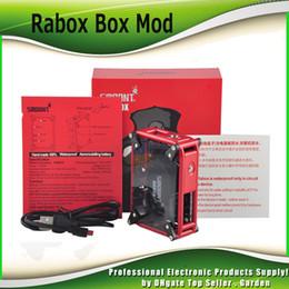 Wholesale Port Micro Usb - Original Smoant RABOX 80W TC Mod With 3300mAh Battery Authentic Mechanical Box Mod Powerful Micro USB port 100% Genuine DHL Free 2202017