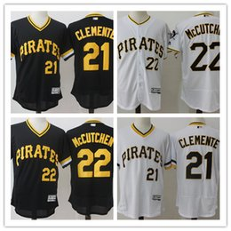Wholesale Pittsburgh Pirates Authentic Jersey - Men's Pittsburgh Pirates Andrew McCutchen Majestic Home White Flex Base Authentic Collection Player Jersey 100% stitched Baseball jersey