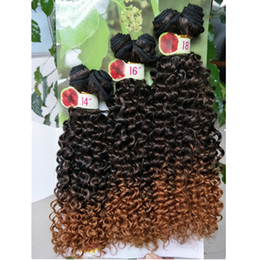 Wholesale 14 Inch Weave Curl - freetress hair deep wave synthetic hair color 27 Jerry curl synthetic hair extensions purple braiding crochet braids weaves wholesale marley