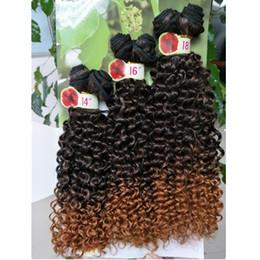 mejor cabello humano libre de enredos Rebajas Freetress pelo onda profunda color de pelo sintético 27 Jerry rizo extensiones de cabello sintético trenzado púrpura trenzas de ganchillo teje marley