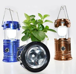 UK super bright led camping lantern - USB Solar lamps new Style Portable Outdoor LED Camping Lantern Solar lights Collapsible Light Outdoor Camping Hiking Super Bright led Light