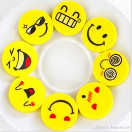 Wholesale Face Eraser - 2.5cm Smile Face Erasers Rubber for Pencil Kids Funny Cute Stationery Novelty Eraser Office School Supplies 120pcs=1 BOX