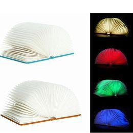 Wholesale Birthday Book - Novelty Mini-USB Creative LED Night Light Folding origami books lights bedside lamp for birthday Memorial Valentine's Day gift