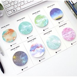 Wholesale Dreams Book - Wholesale- 8 pcs Lot Dream notes Fantasy star memo pad Planner sticker Diary book marker Stationery Office material School supplies F665