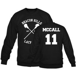 Wholesale Lacrosse Men - Wholesale-Beacon Hills Lacrosse Men Women Hooded Hoodies Wolf Stiles Stilinski Lahey Mccall Teen 14 24 11 Hoody Sweatshirts Pullover