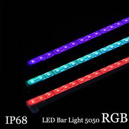 5050 RGB LED Bar ışık DC12V 36LED 50 cm IP68 Su Geçirmez Akvaryum Aydınlatma LED Sert Şerit bar Işık nereden