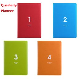 Wholesale Calendar Notebook - Wholesale- First Quarterly of 2017 Planner A5 Quarterly Planner Calendar With Weekly Plan paper and Daily Plan Paper;Task Schedule Notebook