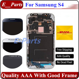Wholesale S4 Panel - 100% New Grade AAA For Samsung Galaxy S4 i9500 I337 M919 I545 I9502 I9505 E300K E300S LCD Assembly Display Screen Replacement with Frame
