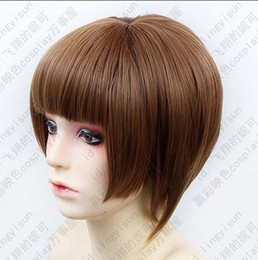 Wholesale Psycho Pass - 100% Brand New High Quality Fashion Picture full lace wigs> HOT~PSYCHO-PASS Tsunemori Akane Short Brown Cosplay Fashion Wig Free shipping