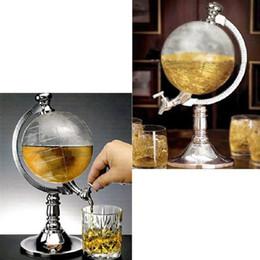 Wholesale Novelty Drinks Dispenser - Novelty Globe Shaped Beverage Liquor Dispenser Drink Wine Beer Pump Single Canister Pump High Quality Hip Flasks