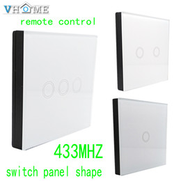 Wholesale Wireless Curtains - Wholesale- Vhome RF 433MHZ wireless Glass panel remote control,Switch shape control for Touch switches, garage doors, electric curtains