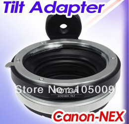 Wholesale Nex F3 - Wholesale- Tilt lens adapter ring with tripod for EF to NEX e mount 5T 3N NEX-6 5R F3 NEX-7 FS700 A7 A7s A7R A7II A5100 A6000 camera
